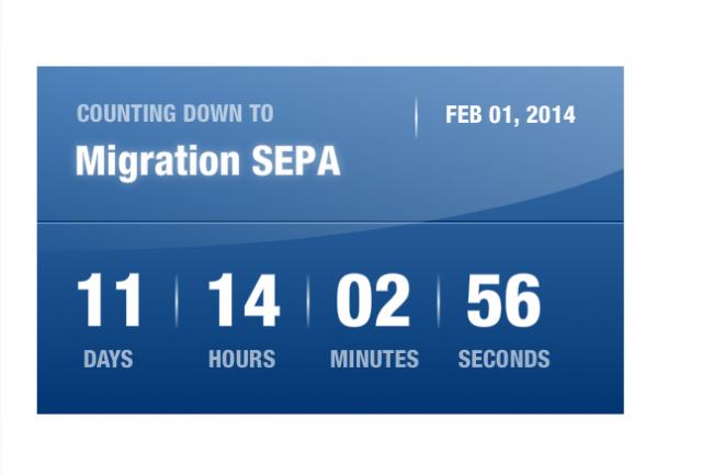 Le compte � rebours SEPA s'�grenne sur le site de la Banque de France