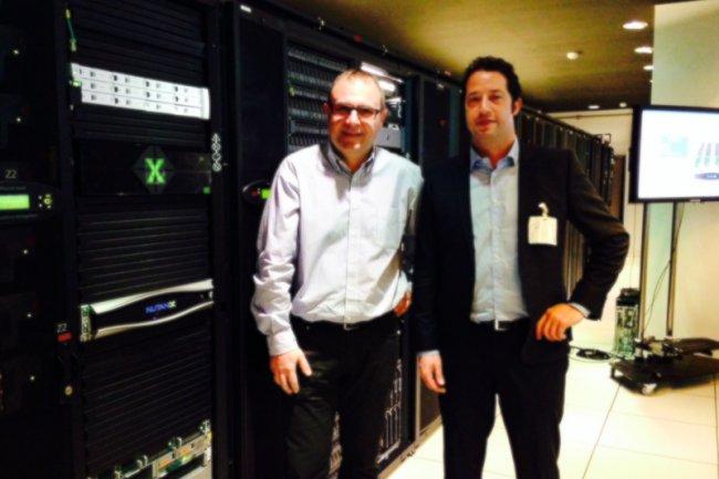 Sylvain Siou et Sammy Zoghlami, respectivement directeur technique et country manager de Nutanix France, au Technology Center de Microsoft.