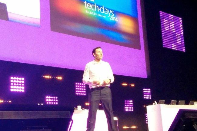 Jean Ferré, directeur de la division développeurs plate-forme et écosystème, aux tech.days 2014.