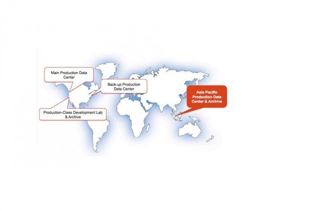 Il y a quatre ans, Salesforce.com avait mis en service un quatri�me datacenter sur le continent asiatique, � Singapour. (cr�dit : D.R.)