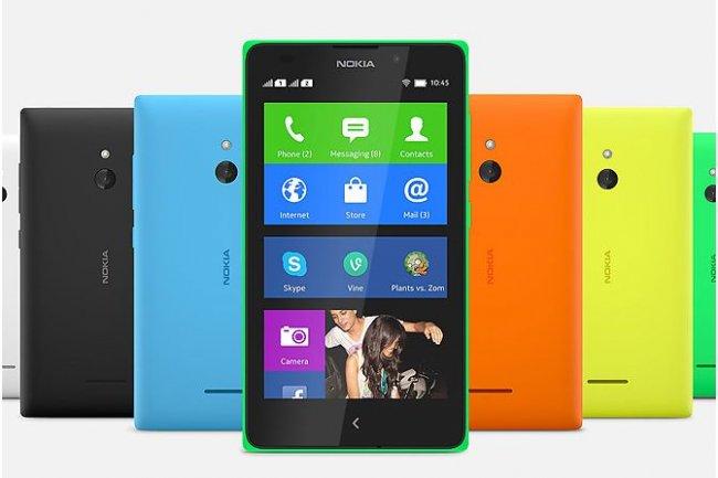 Interface à la Windows Phone pour le modèle XL basé sur Android et Asha que Nokia vient de présenter sur le Mobile World Congress de Barcelone.