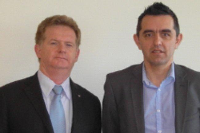 De gauche à droite, Ludwig Haché, président et Frédéric Godbillot, vice-président de Numica. Crédit Photo: D.R