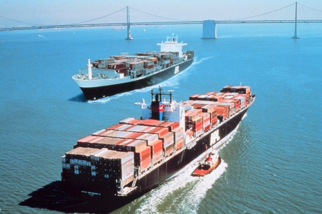 Orange Business Services va connecter les porte-conteneurs au cloud. Crédit D.R.