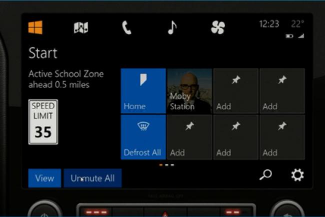 Depuis l'écran de contrôle, le système de Microsoft permet d'accéder à de nombreux services connectés.