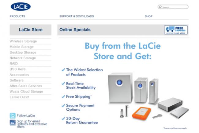 Pendant près d'un an, le site marchand de LaCie était une porte ouverte pour les hackers.