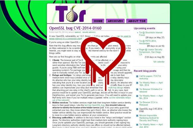 Le blocage de 380 relais effectu� par Tor en r�action au bug Heartbleed d'OpenSSL a entra�n� une r�duction imm�diate de la capacit� du r�seau de 12 %. (cr�dit : D.R.)