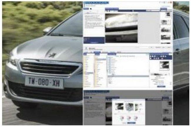 La direction marketing d'Automobiles Peugeot peut valider la qualité éditoriale des documentations commerciales via un portail web. (crédit : D.R.)