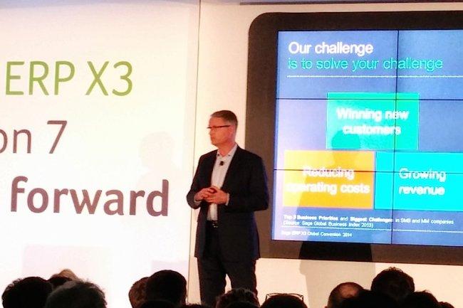 Cette version 7 d'ERP X3 propose un accès mobile et une foule d'applications web, nous a expliqué Christophe Letellier, CEO de ERP X3 chez Sage