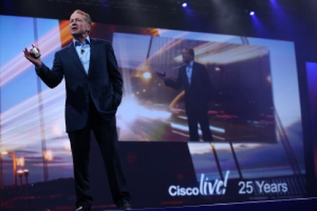 John Chambers, CEO de Cisco, a profité l'événement Cisco Live 2014 pour tracer les objectifs de la firme. Crédit D.R.
