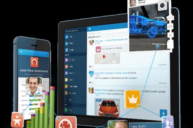 Salesforce CRM et Salesforce1 vont être adaptées pour accéder, éditer et partager des documents Office depuis Office Mobile, Office iPad et Office 365. (crédit : D.R.)
