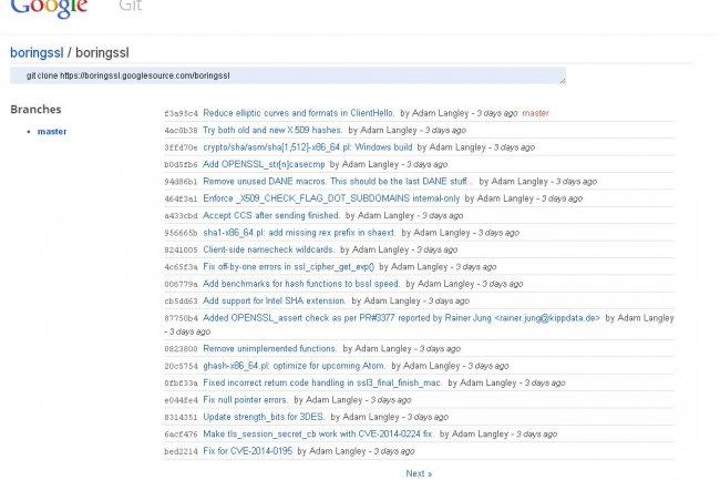 Google va proposer ses propres contributions à OpenSSL sous licence ISC. (cliquer sur l'image pour l'agrandir)