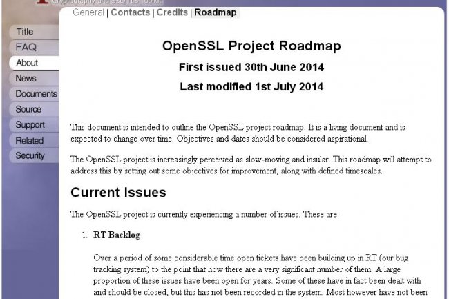 Entre autres objectifs, le projet OpenSSL va s'atteler à résorber le retard dans le traitement des bugs qui lui ont été signalés dans la bibliothèque de chiffrement.