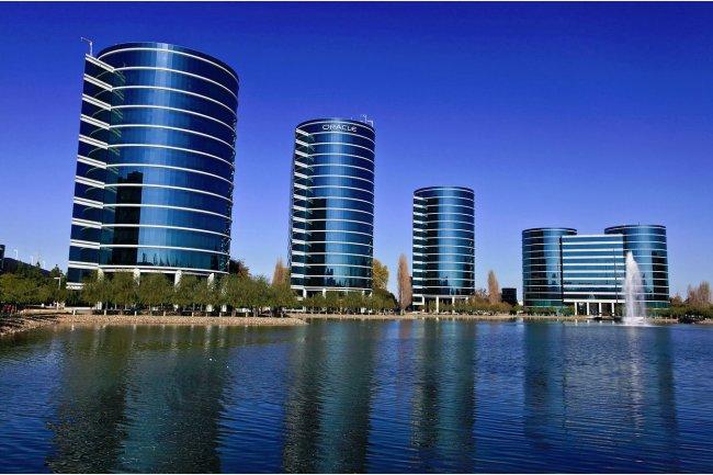 Le siège social d'Oracle à Redwood Shores, dans l'état de Californie. (crédit : Wikimedia / Håkan Dahlström)