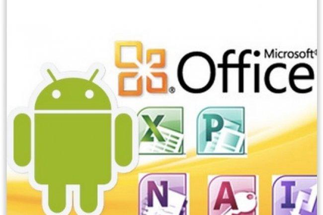 Microsoft avait lancé l'été dernier une version d'Office pour smartphones Android. (crédit : D.R.)