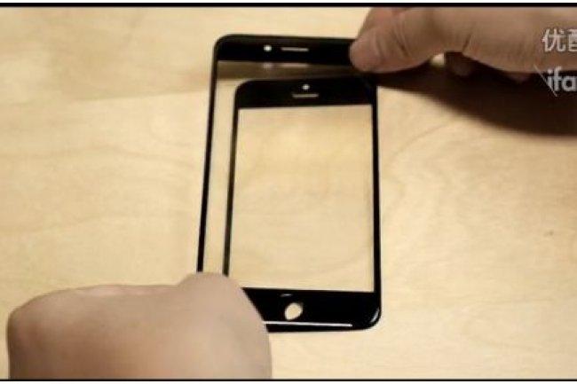Dans une vidéo postée sur le site chinois ifanr, ce qui est présenté comme l'écran de l'iPhone 6 à 4,7 pouces est superposé à l'écran de l'iPhone 5. Crédit : ifanr / cliquer sur l'image)