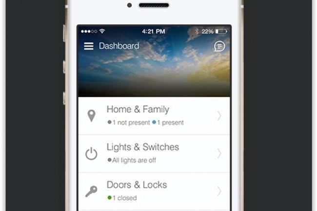 SmartThings propose des apps iOS et Android pour piloter et gérer tout un ensemble de capteurs et de caméras et les systèmes domotiques de la maison. (crédit : D.R.)