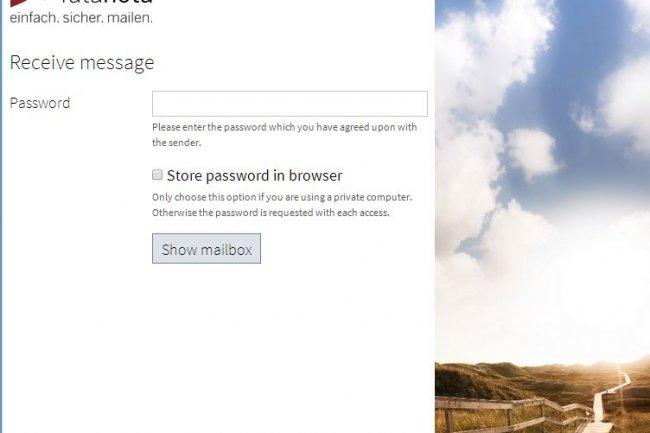 Une fois le message reçu, il suffit de rentrer le mot de passe communiqué par l'expéditeur pour lire son email.