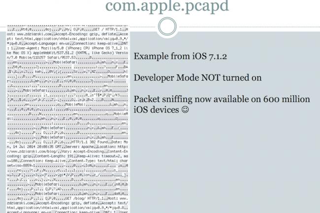 Le mouchard présent dans iOS envoie une grande quantité d'information aux serveurs d'Apple. (crédit : LMI)