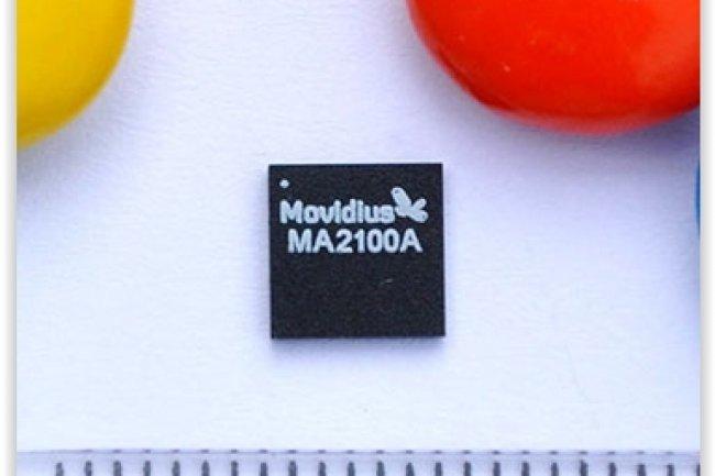 La puce Myriad 2 qui viendrait équiper les terminaux mobiles Project Tango de Google ne dépasse pas 6,2 mm carrés pour une épaisseur d'1mm. (crédit : D.R.)