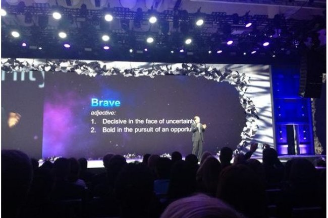 Il faut appréhender les opportunités avec audace, a exhorté Pat Gelsinger, CEO de VMware, sur la conférence VMworld 2014 qui se tient en ce moment à San Francisco. (crédit : VMware)