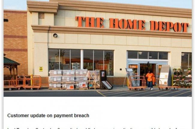 Sur son site web, Home Depot a prévenu ses clients du piratage de ses systèmes de paiement. (crédit : D.R.)