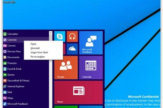 Les dernières captures d'écran du prochain Windows proviendraient d'une version Build actuellement dans les mains des partenaires de Microsoft. (crédit : D.R.)