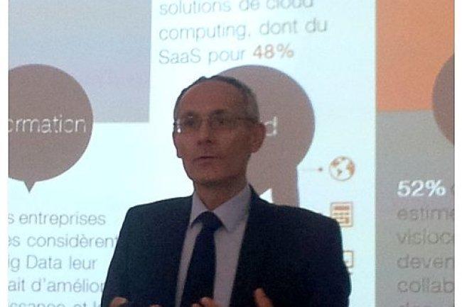 L'annonce de la création d'Orange Applications for Business a été annoncée par Thierry Bonhomme, directeur exécutif d'OBS jeudi matin au Living Lab d'Orange à Paris. (crédit : LMI)