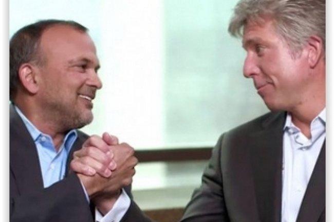 Steve Singh (à gauche) et Bill McDermott (à droite) sont respectivement les CEO de Concur et de SAP. (crédit : D.R.)