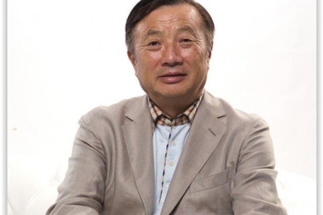 Ren Zhengfei, Deputy Chairman of the Board de Huawei était en visite en France pour annoncer le plan d'investissement d'1,5 milliard d'euros qui s'étalera sur 3 ans. Crédit: D.R