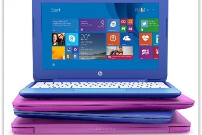 HP compte beaucoup sur ses modèles de PC portables Stream Windows 8.1 pour gagner des parts de marché. (crédit : D.R.)