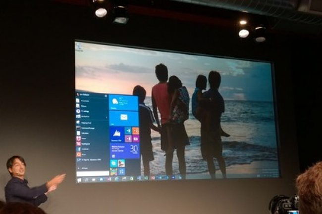 Joe Belfiore, vice-président de l'Operating Systems Group de Microsoft, à SF lors de la présentation de Win 10.