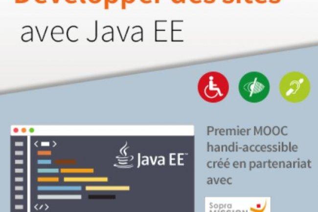 Les personnes handicapées pourront se former à Java en suivant un MooC  créé à l'initiative de la plate-forme de cours en ligne OpenClassrooms et de la Mission Handicap  de Sopra Group. Crédit : D.R