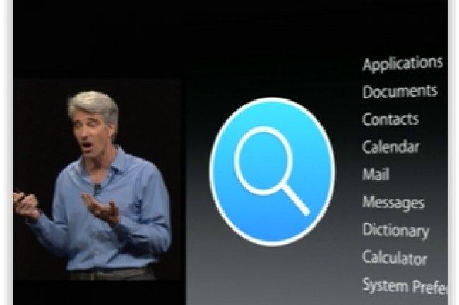 La fonction de recherche Spotlight avait été l'une des annonces fortes de la conférence WWDC d'Apple en juin dernier. (crédit : D.R.)