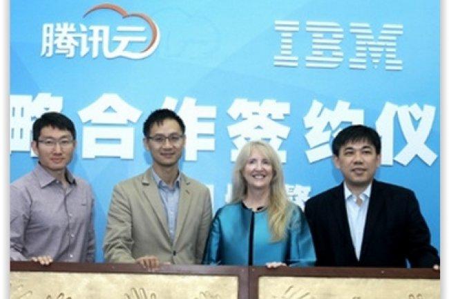 Tencent a conclu un accord avec IBM dans le SaaS. (crédit : D.R.)