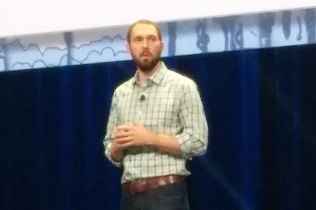 Jonathan Bryce, directeur exécutif de la Fondation OpenStack, a souligné la bonne santé de l'écosytème Open Source. (crédit : LMI)