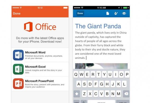 Microsoft livre des apps Word, Excel et PowerPoint pour l'iPhone en remplacement de la suite Office Mobile livrée il y a 18 mois.
