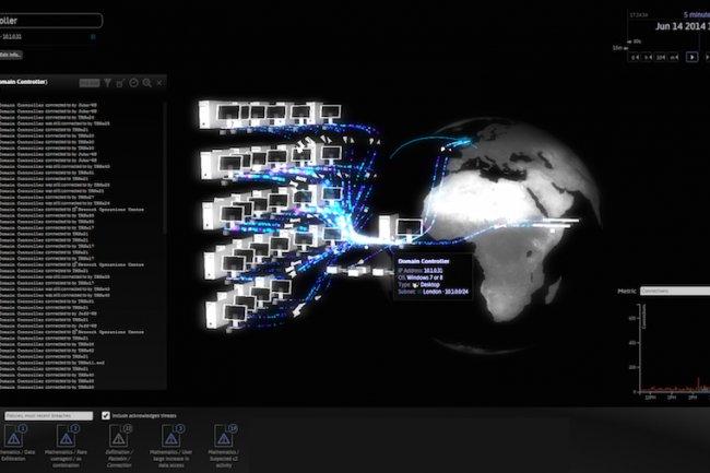 Il faut quelques semaines au logiciel DCIP de Darktrace pour détecter les comportements dits « anormaux » sur le réseau d'une entreprise. (crédit : D.R.)
