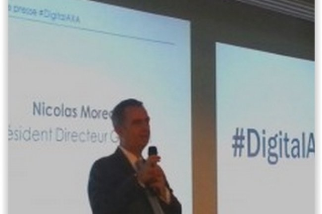 Nicolas Moreau, PDG d'Axa France, a présenté la stratégie digitale de l'entreprise. (crédit : Betrand Lemaire)