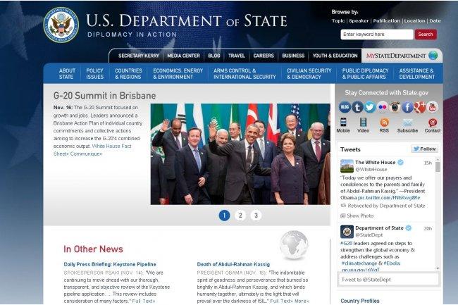 La messagerie du Département d'Etat américain a été bloquée vendredi dernier, de même que certaines parties de son site public, à la suite d'activités suspectes. (crédit : D.R.)