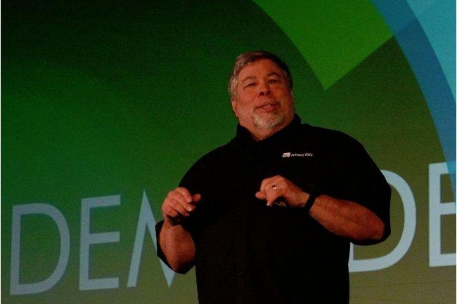 Steve Wozniak, conseiller scientifique de Primary Data, intervenant sur la conférence Demo. (crédit : IDGNS)