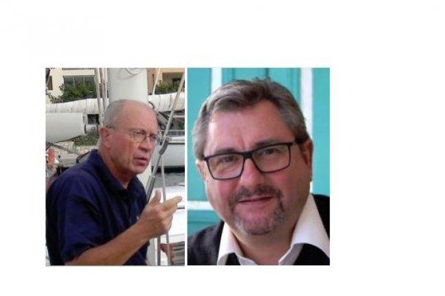 De gauche à droite, Claude Leloustre, président du Clusir Paca, et Yvon Defour, président du CIP Paca. (crédit : D.R.)