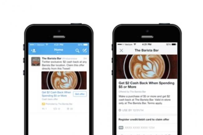 Twitter teste les coupons de promotion intégrés aux tweets