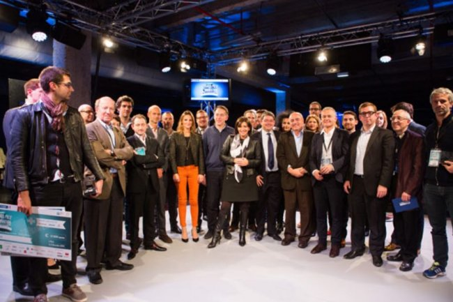Anne Hidalgo, Maire de Paris, et son adjoint Jean-Louis Missika, ont dévoilé hier le nom des lauréats des Grands Prix de l'Innovation 2014. Crédit : D.R