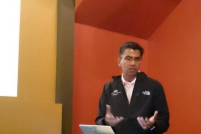Exploitant les ressources d'OpenStack, Sirish Raghuram, CEO de Platform9, entend bien simplifier le déploiement et la maintenance d'un cloud privé avec sa solution SaaS. (crédit : LMI)