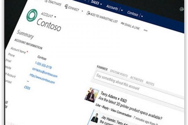 Avec Cortana, il est possible d'effectuer des recherches vocales sur des contacts, des activités, planifier des réunions et créer des dossiers. (crédit : D.R.)