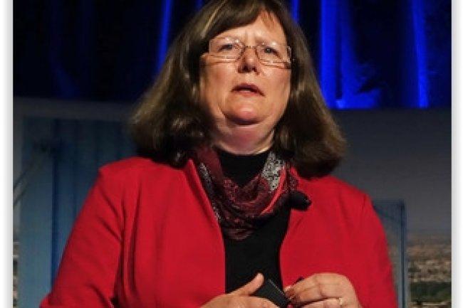 Lorie Wigle, vice-présidente IoT Security Solutions d'Intel, a présenté les dernières solutions de sécurité de McAfee destinées à l'IoT. (crédit : D.R.)