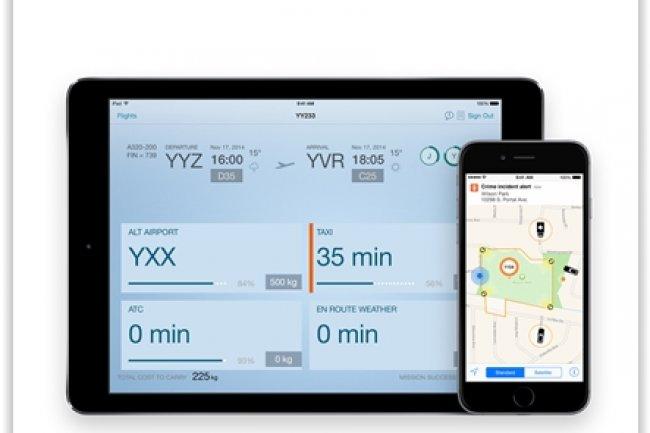 IBM propose des services d'int�gration et de support compl�mentaires pour les 10 nouvelles apps iOS issues de son partenariat avec Apple. (cr�dit : D.R.)