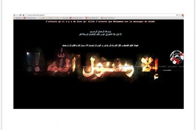 Le site web du Memorial de Caen a �t� pirat� vendredi par la � Fallaga Team �. (cr�dit : D.R.)