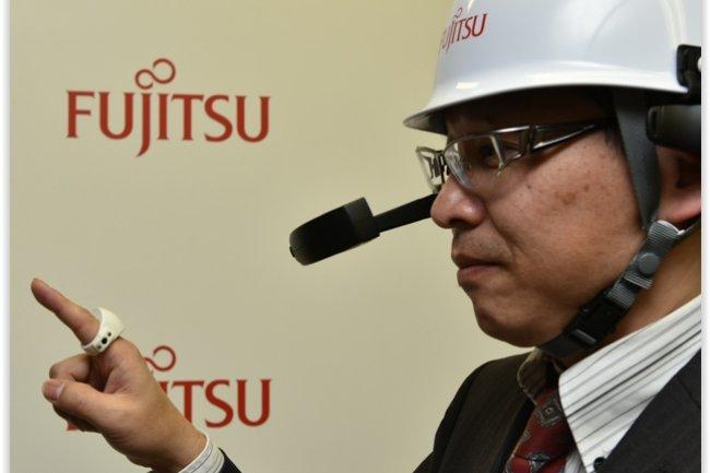 La bague connectée de Fujitsu peut être utilisée pour récupérer des informations inscrites sur des étiquettes NFC. (crédit : D.R.)