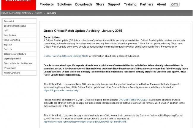 Des centaines de produits Oracle sont concernés par la mise à jour de sécurité trimestrielle livrée cette semaine.